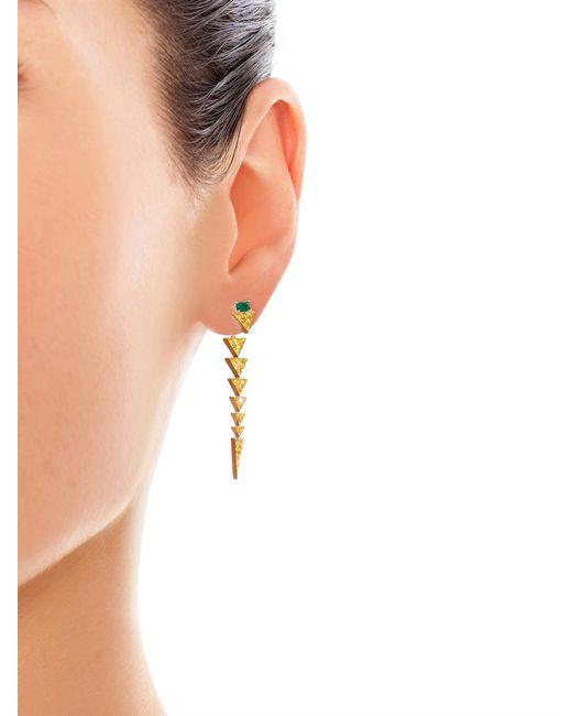 Nikos Koulis | Green Diamond, Emerald & White-Gold Earrings | Lyst
