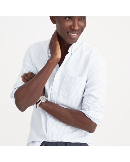 J.Crew | Blue Slim Vintage Oxford Shirt In Sun-faded Stripe for Men | Lyst