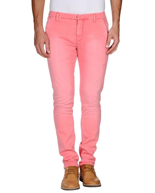 Dondup | Pink Casual Pants for Men | Lyst