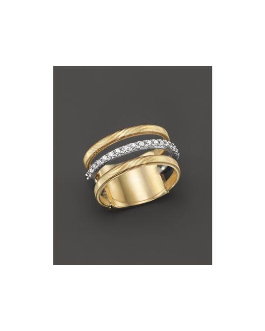 Marco Bicego | Metallic 18k Yellow & White Gold Goa Ring With Diamonds | Lyst