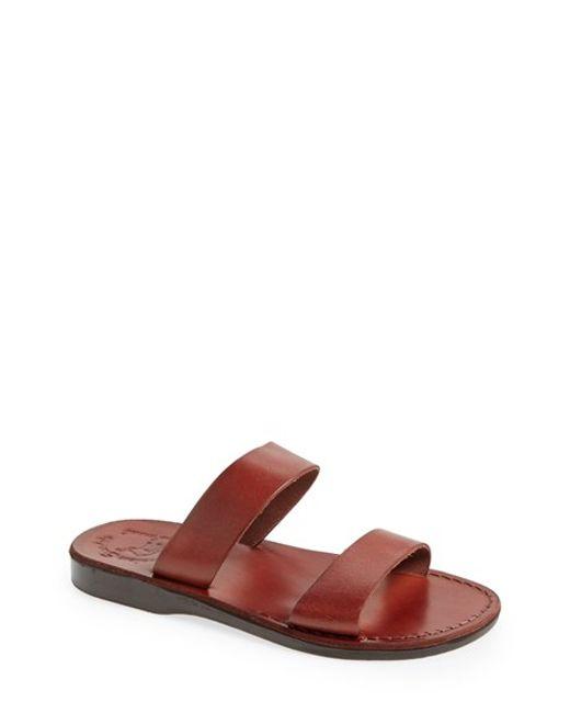 Jerusalem Sandals | Brown 'aviv' Leather Sandal for Men | Lyst