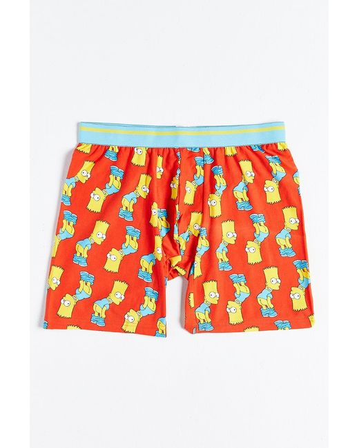 Urban Outfitters | Red Bart Mooning Boxer Brief for Men | Lyst
