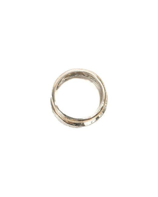 Tobias Wistisen | Metallic Textured Ring Set for Men | Lyst