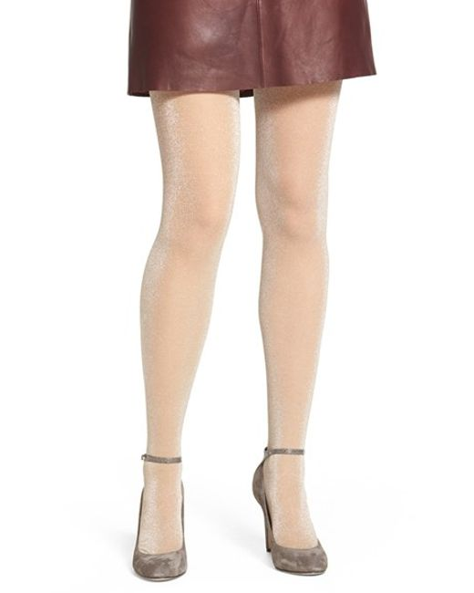 Pretty Polly | Natural Metallic Sheer Tights | Lyst