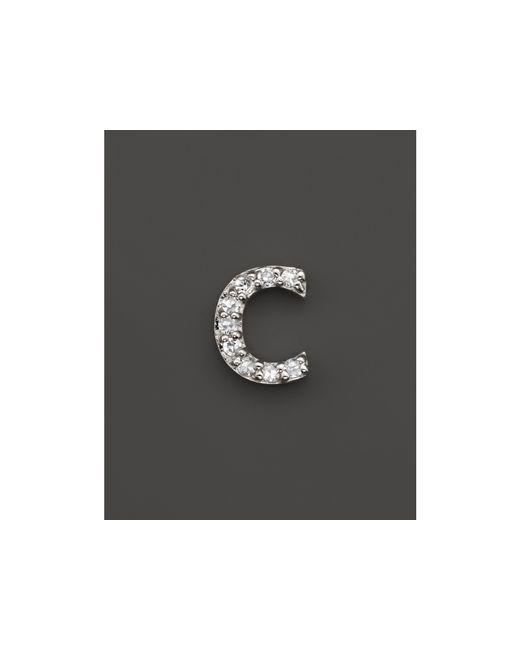 KC Designs | Diamond Initial Stud Earring In 14k White Gold | Lyst