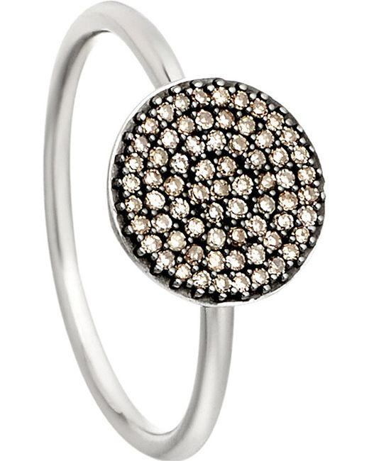 Astley Clarke | Metallic Small Icon 14Ct White Gold Diamond Ring - For Women | Lyst
