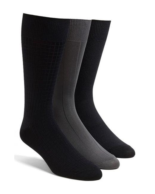 Calvin Klein | Gray 3-pack Microfiber Socks, Grey for Men | Lyst