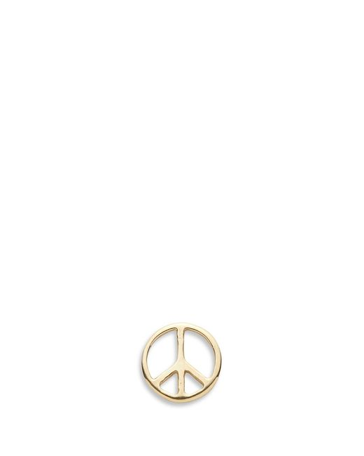 Loquet London | Metallic 14k Yellow Gold Peace Single Earring - Serenity | Lyst
