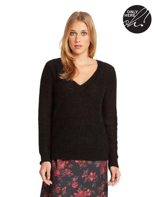 424 Fifth | Black V Neck Sweater | Lyst