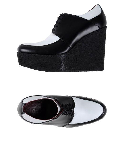 Céline   Black Lace-Up Shoes   Lyst