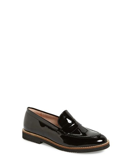 Andre Assous | Black Jessi Patent-Leather Penny Loafers | Lyst