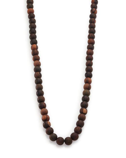 Nest   Black Ebony Wood Long Beaded Necklace   Lyst
