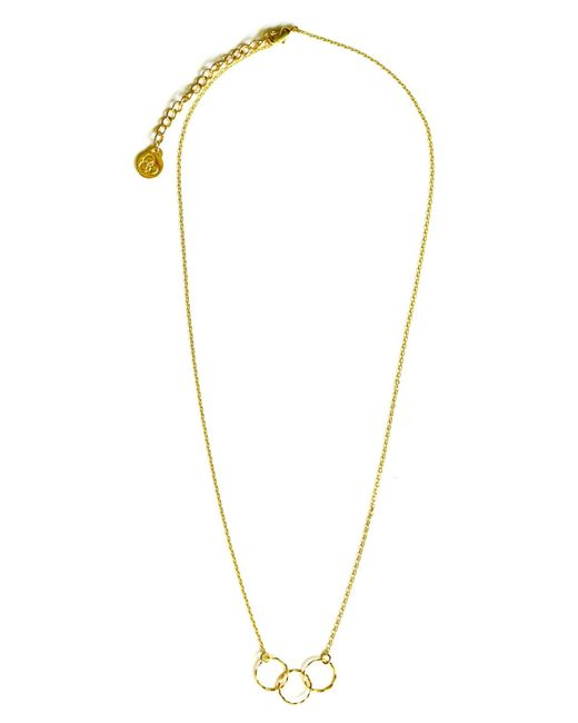 Alternative Apparel | Metallic Triple Circle Necklace | Lyst