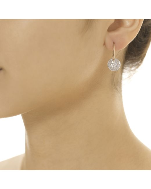 Monica Vinader | Pink Ava Disc Drop Earrings | Lyst