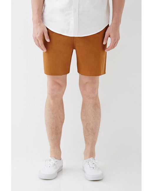 Forever 21 | Natural Cotton Twill Drawstring Shorts for Men | Lyst