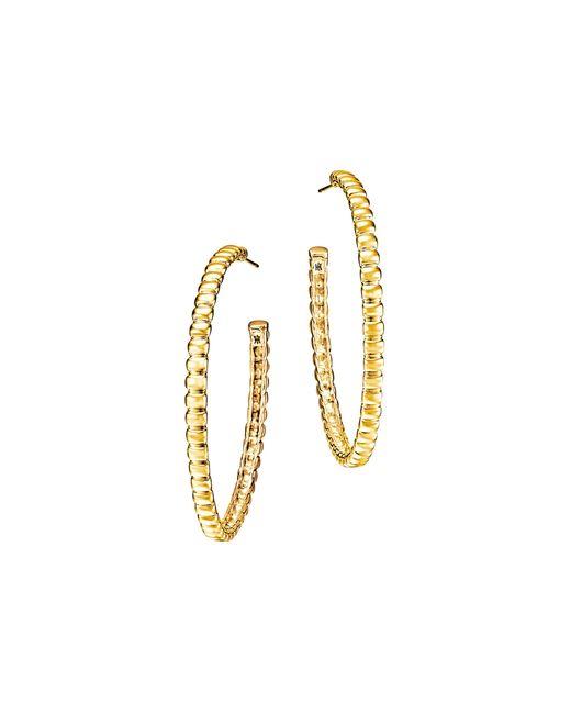 John Hardy   Metallic Bedeg 18k Gold Medium Hoop Earrings   Lyst