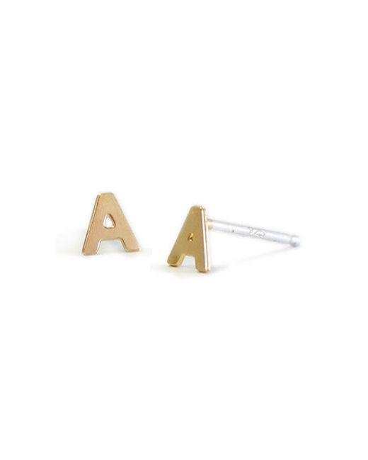 Kris Nations | Metallic Letter Earrings | Lyst