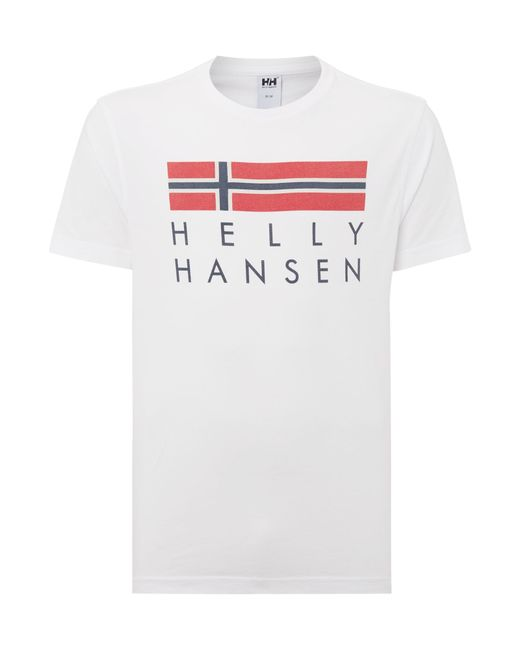Helly Hansen | White Graphic Crew Neck Regular Fit T-shirt for Men | Lyst