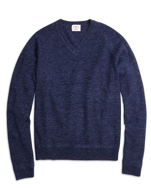 Brooks Brothers | Blue Marled V-neck Sweater | Lyst