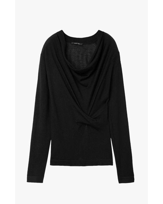 Derek Lam   Black Drape Front Sweater   Lyst