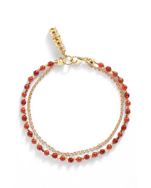 Astley Clarke | Red 'biography' Beaded Bracelet | Lyst
