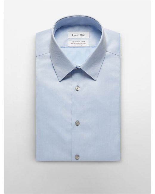 Calvin klein steel slim fit non iron solid herringbone for Calvin klein athletic fit dress shirt