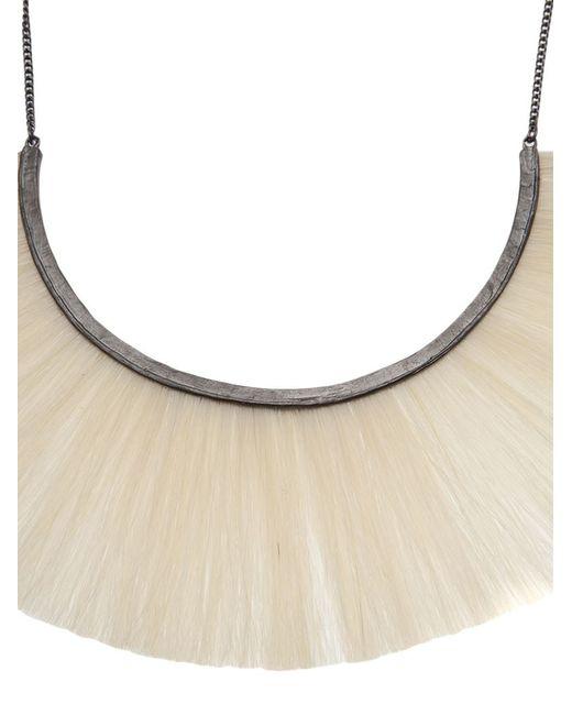 Bjorg   Black Hammered Crescent Necklace   Lyst