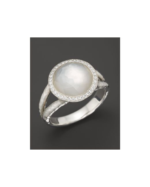 Ippolita | Multicolor Sterling Silver Stella Ring In Mother-of-pearl With Diamonds | Lyst