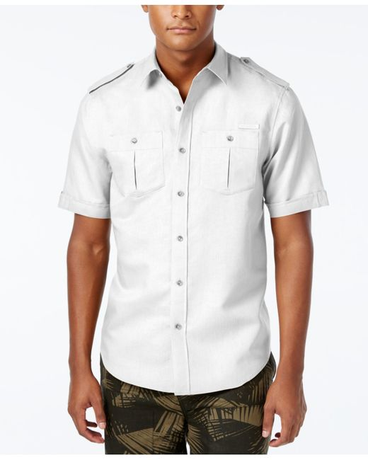 Sean john men 39 s big tall solid linen short sleeve shirt for Sean john t shirts for mens