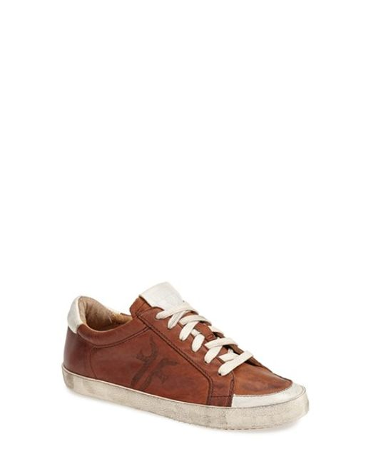 Frye | Brown 'Dylan' Leather Sneaker (Women) | Lyst