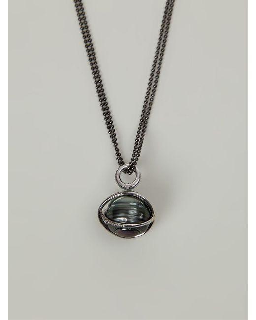 Samira 13 | Black Pearl And Diamond Pendant Necklace | Lyst