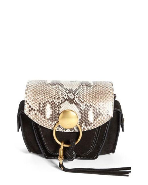 cloe purse - chloe small jodie leather genuine python camera bag, clhoe handbags