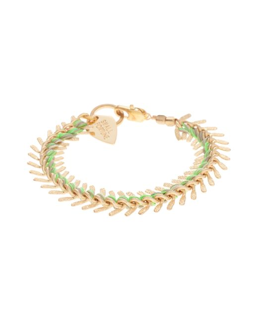 Lizzie Fortunato | Green Gold Scale Bracelet | Lyst