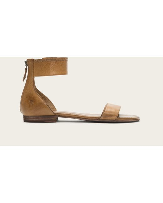 Frye | Natural Carson Ankle Zip | Lyst