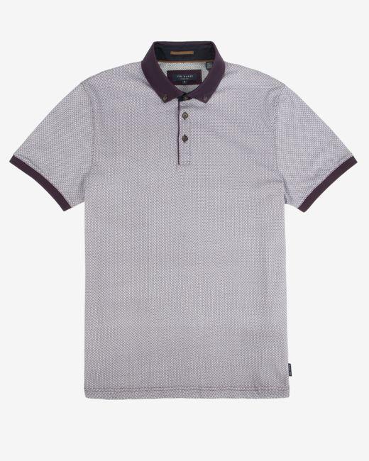 Ted Baker | Purple Chapmun Geo Print Shirt for Men | Lyst