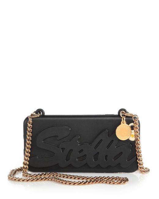 Stella McCartney | Black Logo-embossed Silicone Chain Iphone 6 Case | Lyst