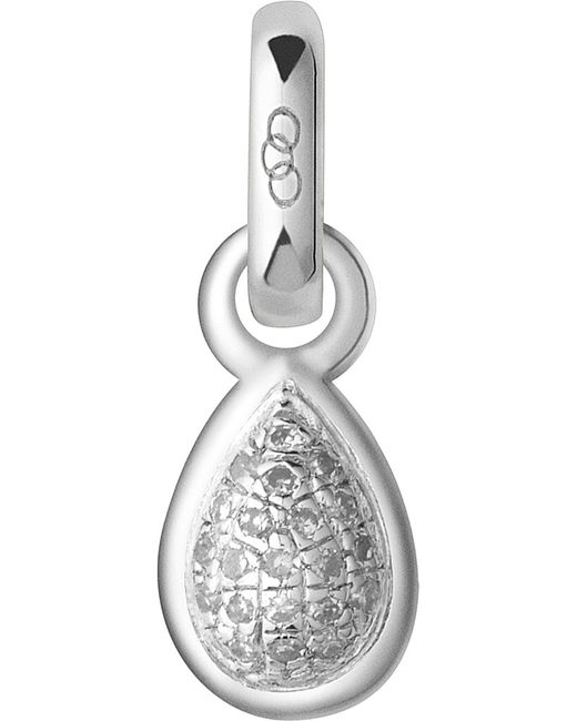 Links of London | Metallic April Sterling Silver And Diamond Mini Birthstone Charm | Lyst
