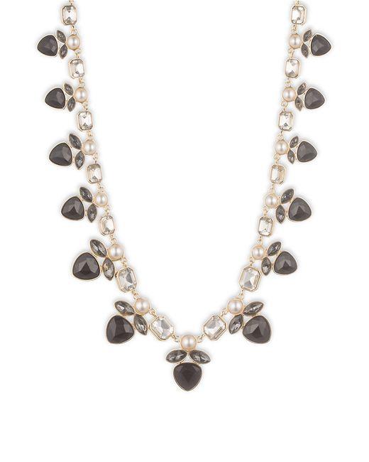 Anne Klein | Metallic Multi-stone Faux Gem Goldtone Collar Necklace | Lyst