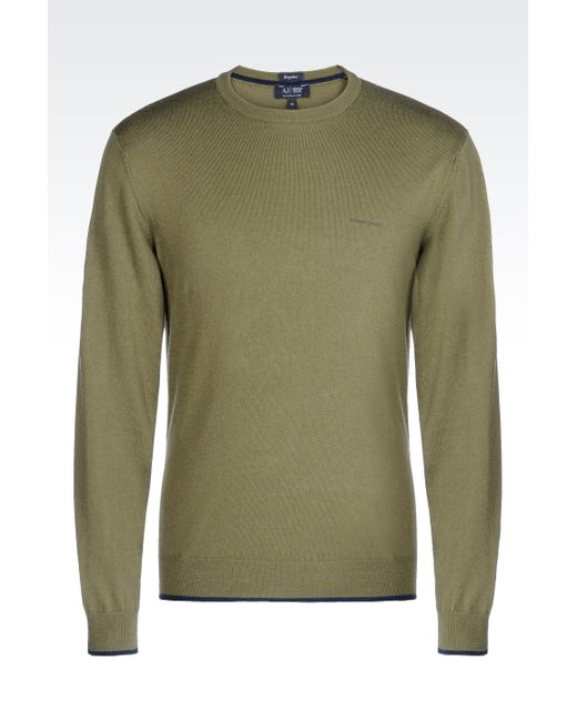 Armani Jeans | Green Jumper In Cotton Blend for Men | Lyst