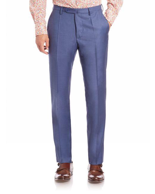 Incotex | Blue Benson Sharkskin Dress Pants for Men | Lyst