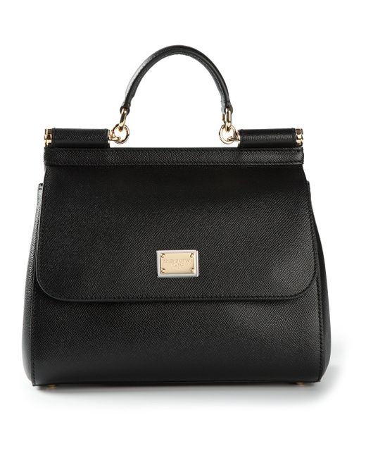Dolce & Gabbana | Black - 'sicily' Tote - Women - Leather - One Size | Lyst