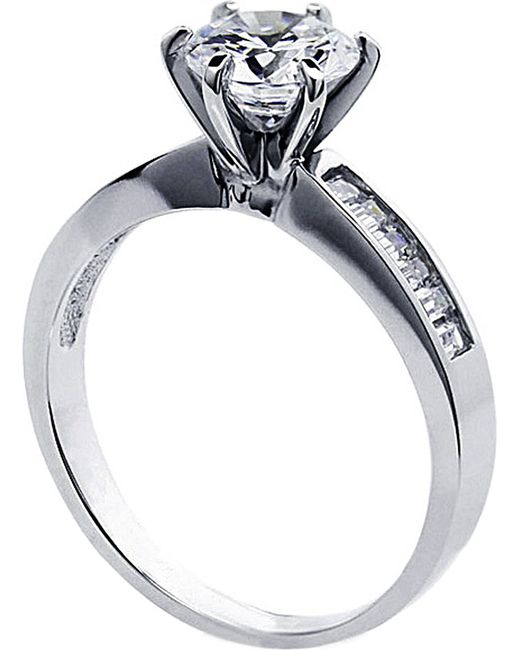 Carat*   Metallic Channel Round 1ct Solitaire Ring   Lyst