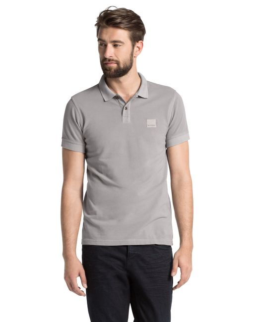 BOSS Orange | Gray Slim-fit Cotton Polo Shirt: 'pascha' for Men | Lyst