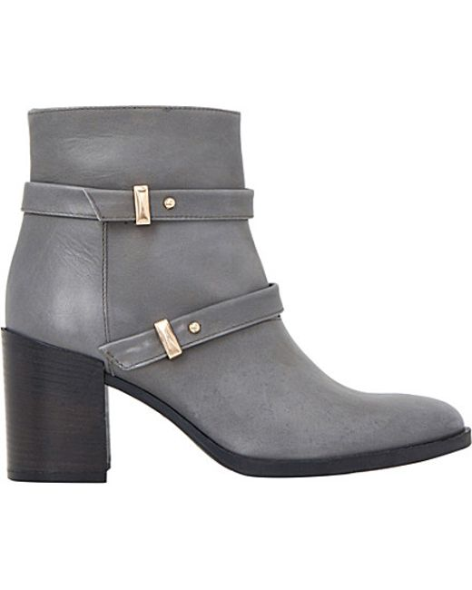 Creative Home Shoes Womens Boots Lynne Women Leather Gray Ankle Boot