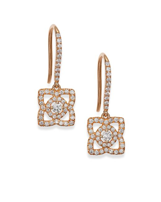 De Beers | Metallic Enchanted Lotus Diamond & 18k Rose Gold Drop Earrings | Lyst