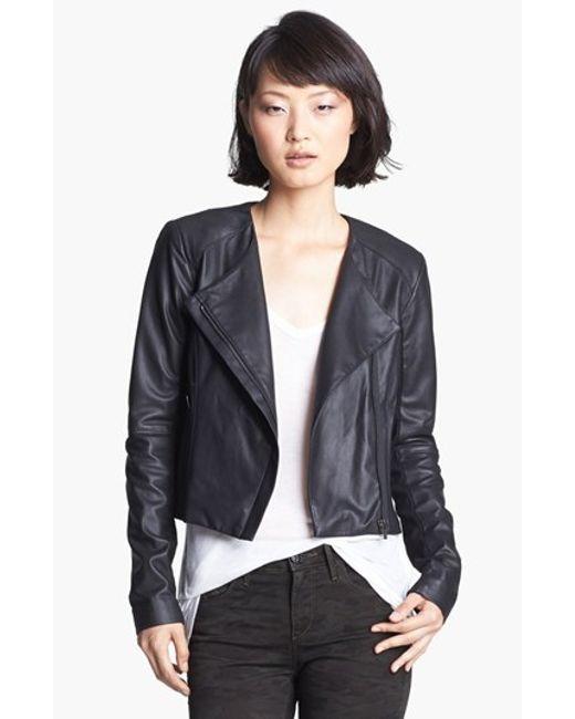 VEDA | Black 'dali' Leather Jacket | Lyst