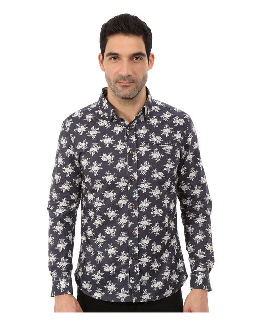 7 Diamonds | Brown Flourish Long Sleeve Shirt for Men | Lyst