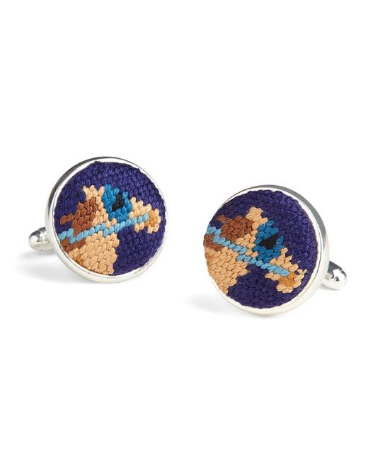 Brooks Brothers | Blue Needlepoint Horse Cuff Links for Men | Lyst