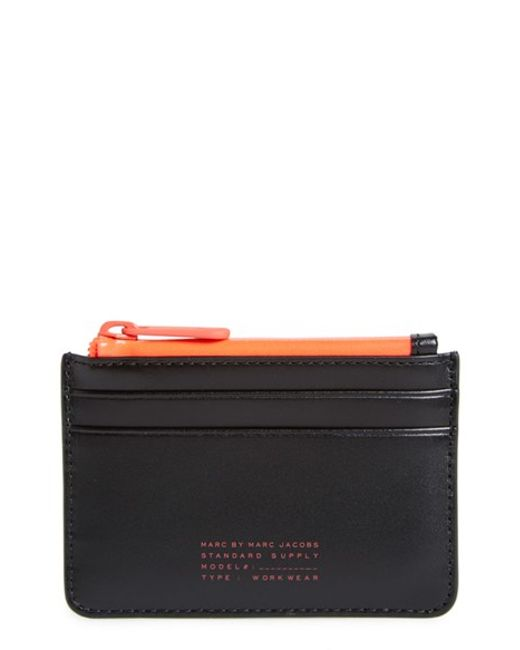Marc By Marc Jacobs | Black 'sophisticato Duo - Lina' Zip Card Case | Lyst