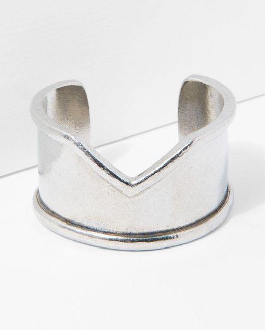 7 For All Mankind - Metallic The 2 Bandits Venus Cuff In Silver - Lyst